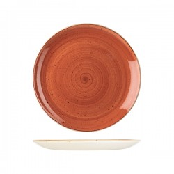 Round Coupe Plate 260mm Spiced Orange Churchill Stonecast (12)
