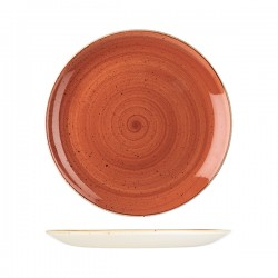 Round Coupe Plate 288mm Spiced Orange Churchill Stonecast (12)