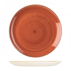 Round Coupe Plate 324mm Spiced Orange Churchill Stonecast (6)
