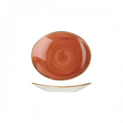 Oval Coupe Plate 192 x 163mm Spiced orange Churchill Stonecast (12)