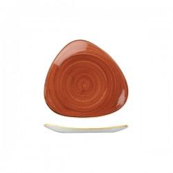 Triangular Plate 192 x 192mm Spiced Orange Churchill Stonecast (12)
