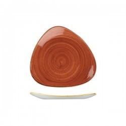 Triangular Plate 229 x 229mm Spiced Orange Churchill Stonecast (12)