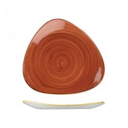 Triangular Plate 260 x 260mm Spiced Orange Churchill Stonecast (12)