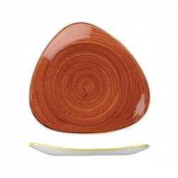 Triangular Plate 300 x 300mm Spiced Orange Churchill Stonecast (6)