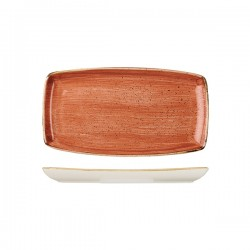 Oblong Plate 295 x 150mm Spiced Orange Churchill Stonecast (12)