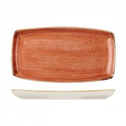 Oblong Plate 350 x 185mm Spiced Orange Churchill Stonecast (6)