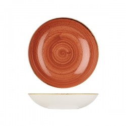 Round Coupe Bowl 248mm / 1136ml Spiced Orange Churchill Stonecast (12)