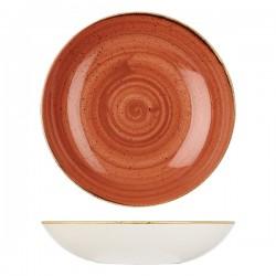 Round Coupe Bowl 310mm / 2400ml Spiced Orange Churchill Stonecast (6)