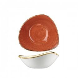 Triangular Bowl 185 x 185mm / 370ml Spiced Orange Churchill Stonecast (12)
