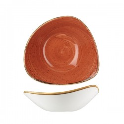 Triangular Bowl 230 x 230mm / 600ml Spiced Orange Churchill Stonecast (6)