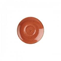 Cappuccino Saucer 156mm Spiced Orange Churchill Stonecast (12)