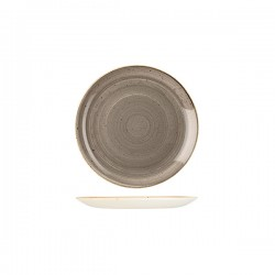 Round Coupe Plate 165mm Peppercorn Grey Churchill Stonecast (12)