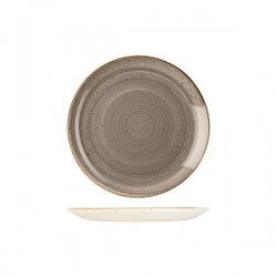 Round Coupe Plate 217mm Peppercorn Grey Churchill Stonecast (12)