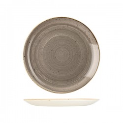 Round Coupe Plate 260mm Peppercorn Grey Churchill Stonecast (12)