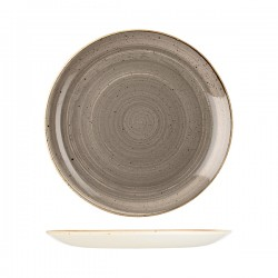 Round Coupe Plate 288mm Peppercorn Grey Churchill Stonecast (12)