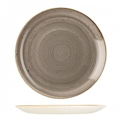 Round Coupe Plate 324mm Peppercorn Grey Churchill Stonecast (6)