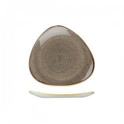 Triangular Plate 229 x 229mm Peppercorn Grey Churchill Stonecast (12)