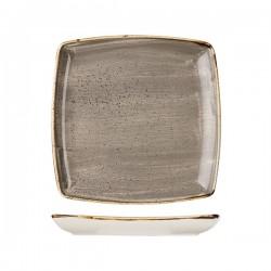 Square Deep Plate 268 x 268mm Peppercorn Grey Churchill Stonecast (6)