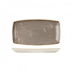 Oblong Plate 295 x 150mm Peppercorn Grey Churchill Stonecast (12)