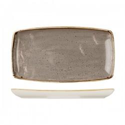 Oblong Plate 350 x 185mm Peppercorn Grey Churchill Stonecast (6)