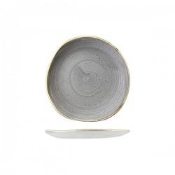 Trace Plate 186mm Peppercorn Grey Churchill Stonecast (12)