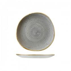 Trace Plate 210mm Peppercorn Grey Churchill Stonecast (12)