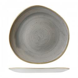 Trace Plate 286mm Peppercorn Grey Churchill Stonecast (12)