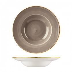 Soup / Pasta Bowl 280mm / 268ml Wide Rim Peppercorn Grey Churchill Stonecast (12)