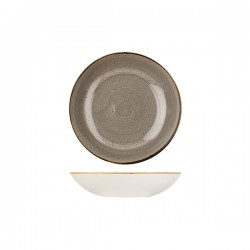 Round Coupe Bowl 182mm / 426ml Peppercorn Grey Churchill Stonecast (12)