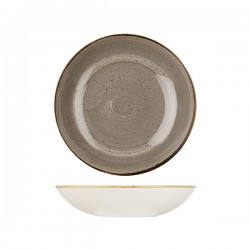 Round Coupe Bowl 248mm / 1136ml Peppercorn Grey Churchill Stonecast (12)