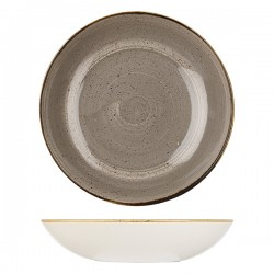 Round Coupe Bowl 310mm / 2400ml Peppercorn Grey Churchill Stonecast (6)