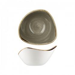 Triangular Bowl 153 x 153mm / 260ml Peppercorn Grey Churchill Stonecast (12)