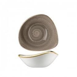 Triangular Bowl 185 x 185mm / 370ml Peppercorn Grey Churchill Stonecast (12)