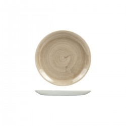 Round Coupe Plate 165mm Patina Taupe Churchill Stonecast (12)