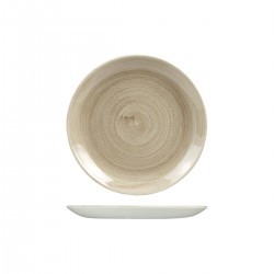 Round Coupe Plate 217mm Patina Taupe Chucrhill Stonecast (12)