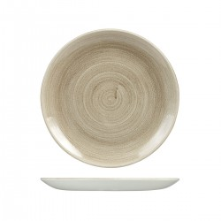Round Coupe Plate 260mm Patina Taupe Churchill Stonecast (12)