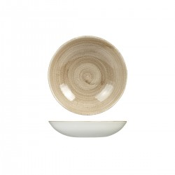 Round Coupe Bowl 182mm / 246ml Patina Taupe Churchill Stonecast (12)