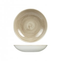 Round Coupe Bowl 248mm / 1136ml Patina Taupe Churchill Stonecast (12)