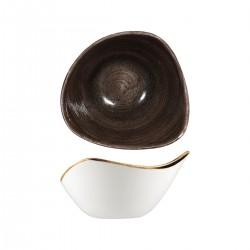 Triangular Bowl 153 x 153mm / 260ml Patina Iron Black Churchill Stonecast (12)