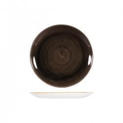 Round Coupe Plate 217mm Patina Iron Black Churchill Stonecast (12)