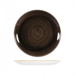Round Coupe Plate 260mm Patina Iron Black Churchill Stonecast (12)