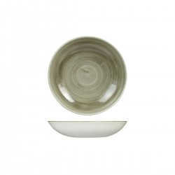 Round Coupe Bowl 182mm / 426ml Patina Burnished Green Churchill Stonecast (12)