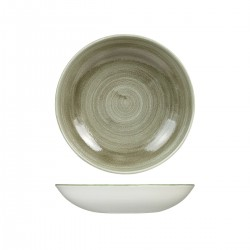 Round Coupe Bowl 248mm / 1136ml Patina Burnished Green Churchill Stonecast (12)