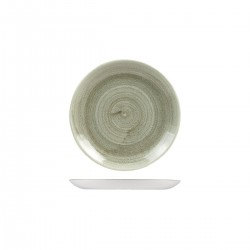 Round Coupe Plate 165mm Patina Burnished Green Churchill Stonecast (12)