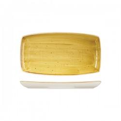 Oblong Plate 295 x 150mm Mustard Seed Yellow Churchill Stonecast (12)