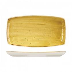 Oblong Plate 350 x 185mm Mustard Seed Yellow Churchill Stonecast (6)