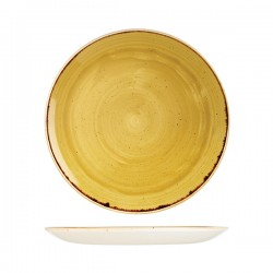 Round Coupe Plate 288mm Mustard Seed Yellow Churchill Stonecast (12)