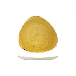 Triangular Plate 229 x 229 mm Mustard Seed Yellow Churchill Stonecast (12)