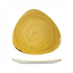 Triangular Plate 311 x 311 mm Mustard Seed Yellow Churchill Stonecast (6)