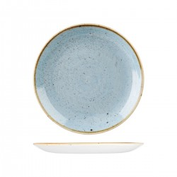 Round Coupe Plate 260mm Deep Duck Egg Churchill Stonecast (12)